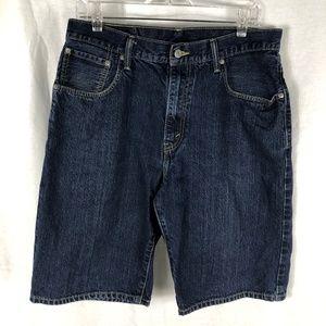 Levi's 569 34 Loose Straight blue denim shorts
